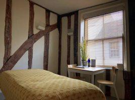 Treatment room at Neal's Yard Remedies Bury St Edmunds