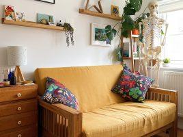 Yellow sofa in treatment room