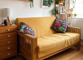 Yellow sofa in treatment room