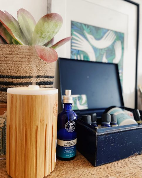Various aromatherapy products available from Neal's Yard Remedies in the form of a holistic first aid kit